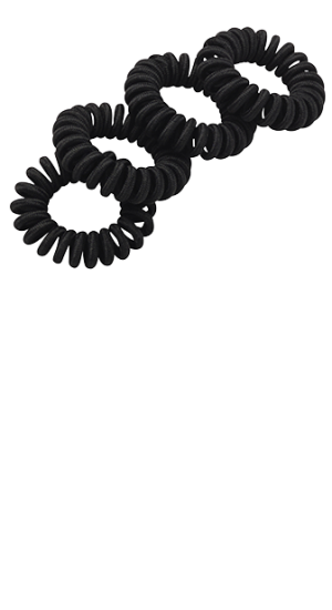 Coiled elastics in black