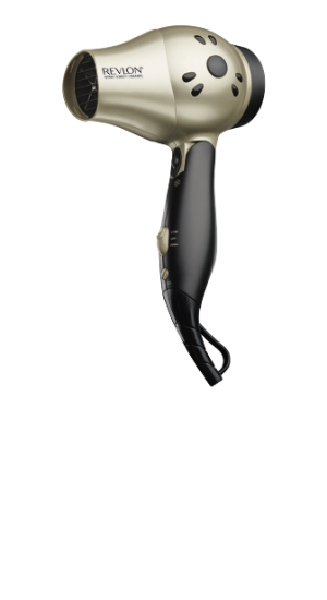 Fast Dry Travel HAIR DRYER in silver