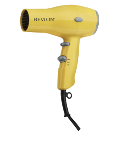 Compact Hair Dryer in Yellow